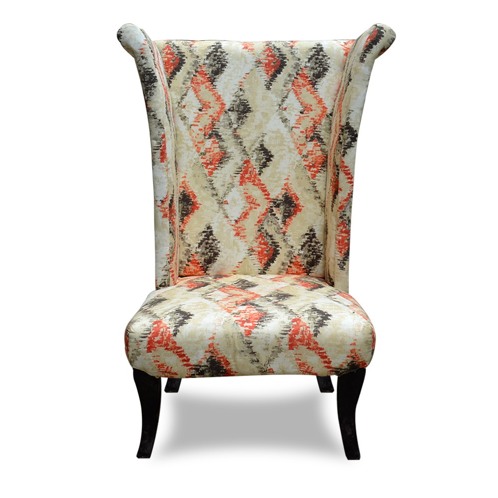 Wing Chair Printed White