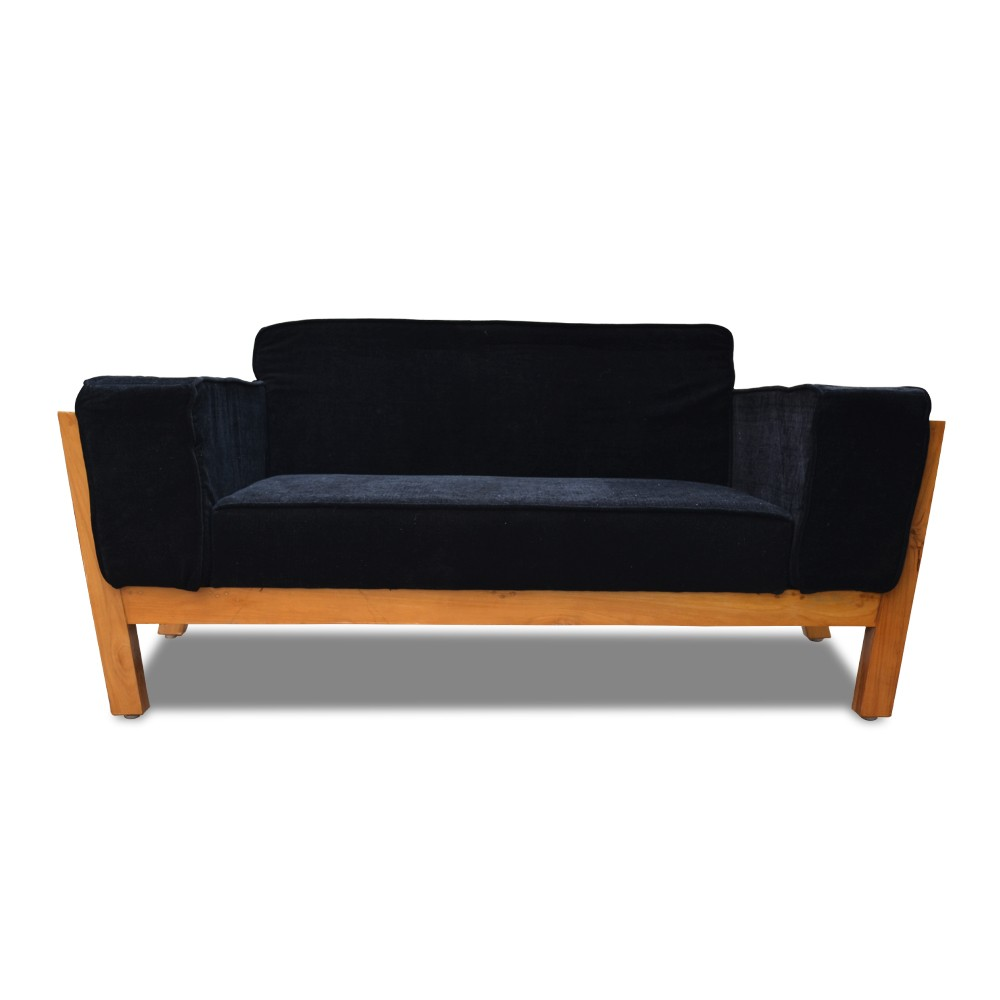 Woodard two Seater Sofa Black