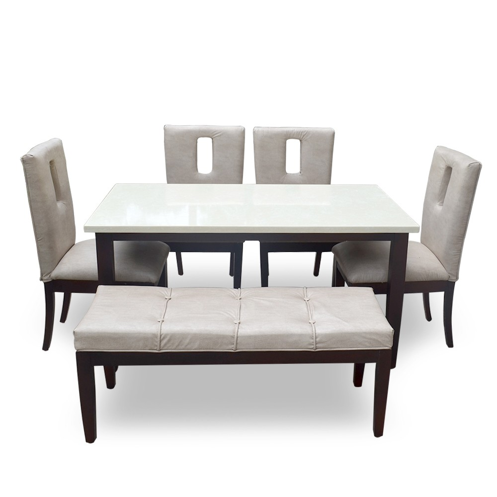 Colorado 9 Seater Dining Table Set with Marble Top