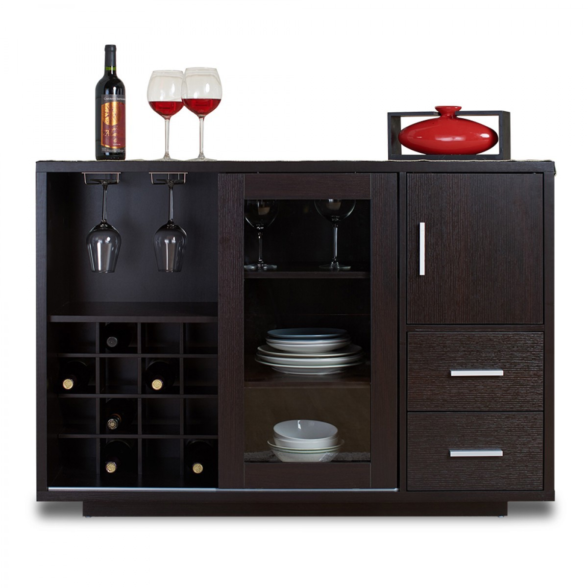 Malone Bar Cabinet Black