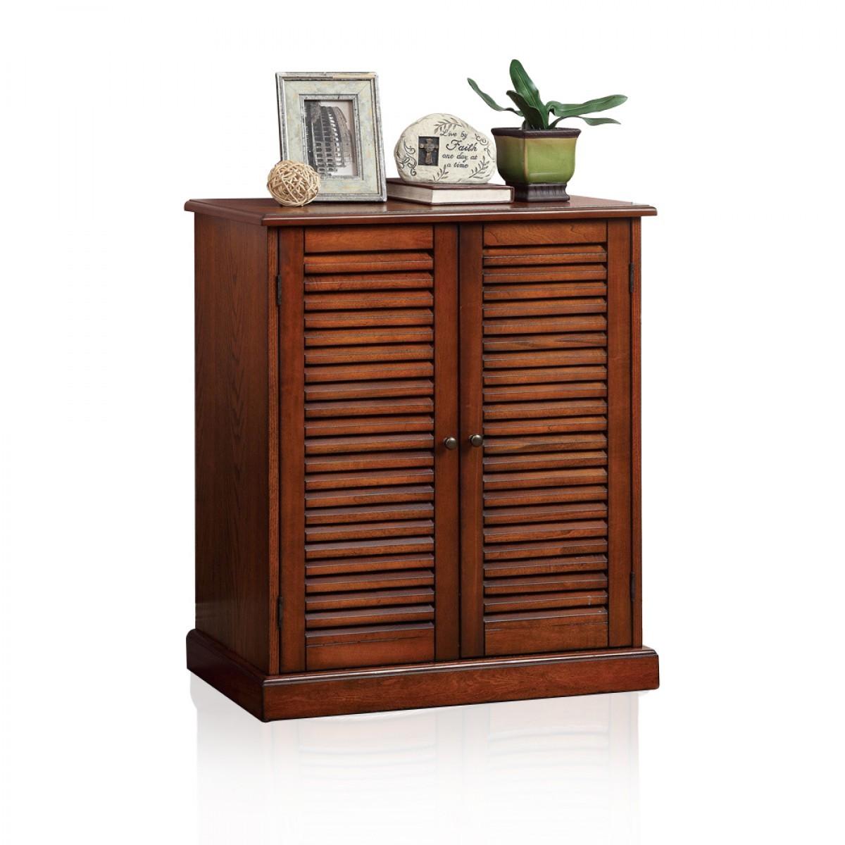 Walkabout 5-shelf Shoe Cabinet Brown