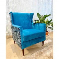 Betty Wing Chair Blue
