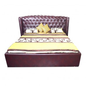 Imperial Upholstered Bed Dark walnut