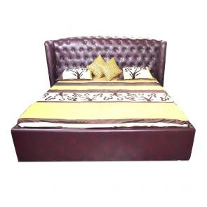 Imperial Upholstered Bed Dark walnut