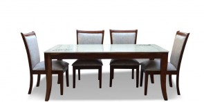 Marina 6 Seater Dining Table with Marble Top