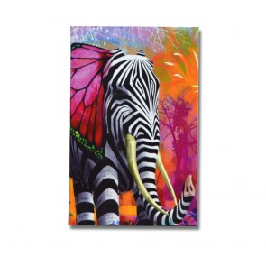 Elephant in a Zebra Skin