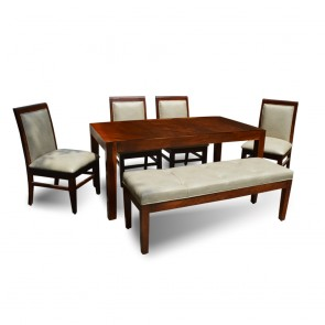 Sophie 6 Seater Dining Table Set Wood Top