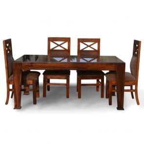 La Rosa Six Seater Dining Table Set sheesham wood