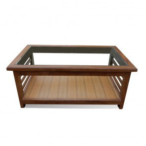 Gloria Center Table With Top Glass