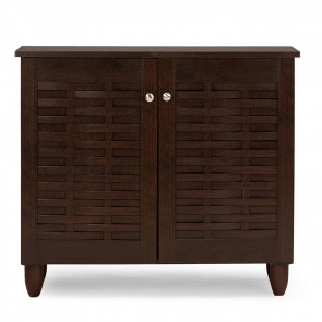 We Heart Shoes Cabinet Dark Brown With 2 Doors