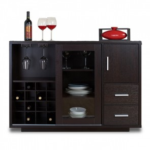 Malone Bar Cabinet Black