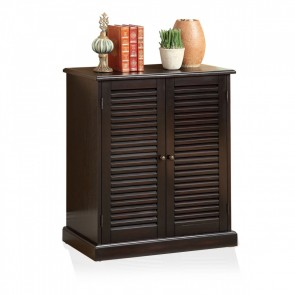 Walkabout 5-shelf Shoe Cabinet Black