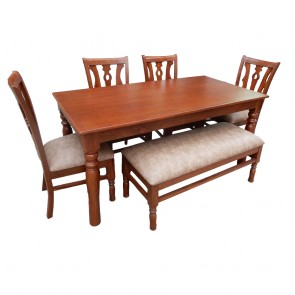 Abba 6 Seater Dining Table Set