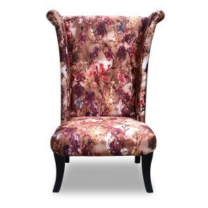 Iris Chair Printed Red