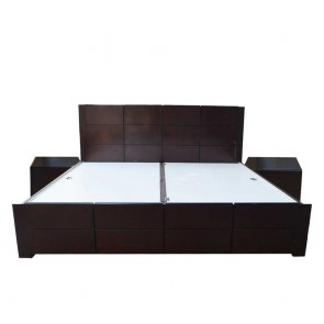 Alex Solidwood Bed with sidetables