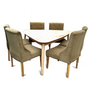 Yorkshire 6 Seater Dining Table Set