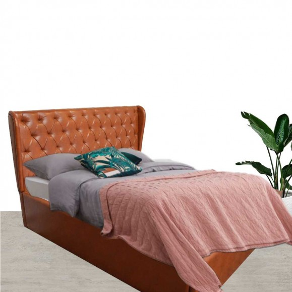 Darcy Upholstered Bed Tan