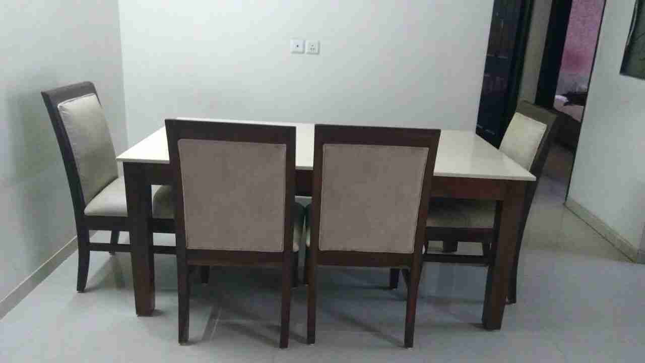 Colorado 6 Seater Dining Table Set with Marble Top