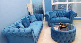 Laura Chesterfield Sofa Set