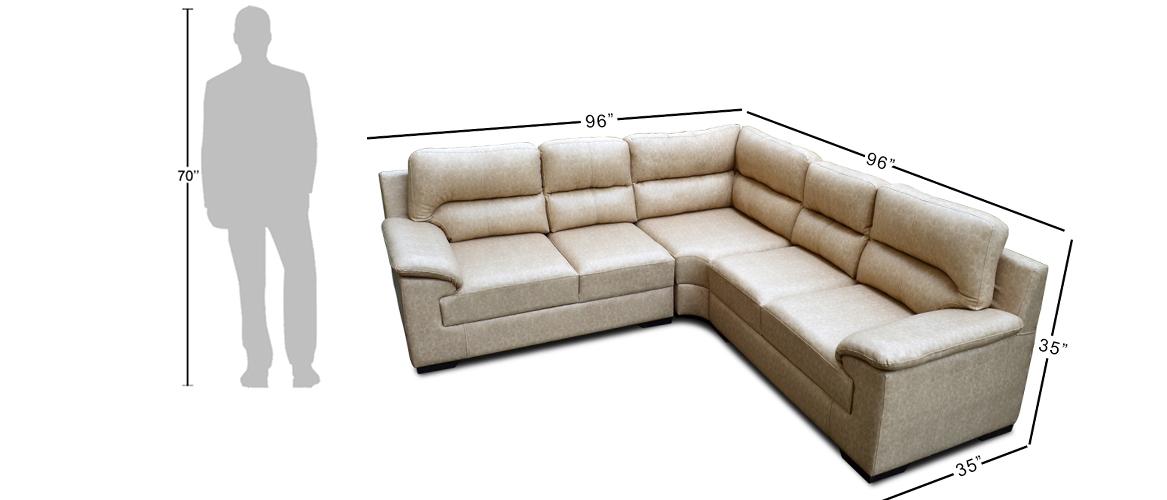 Glamour L-Shape Sofa